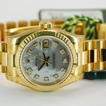 Rolex Ladies DateJust President 18kt Yellow Gold MOP Dial-179178