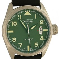 Davosa Military Stahl Automatik Armband Leder 42mm