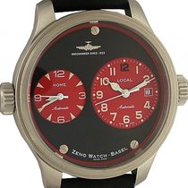 Zeno-Watch Basel Oversized Pilot Dual Time 2 Zeitzonen...