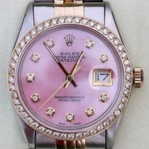 Rolex Datejust Two Tone Stainless 18k Gold Diamonds Bezel Pink...
