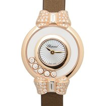 Chopard Happy Diamonds 18 K Rose Gold With Diamonds Transparen...