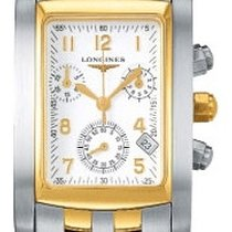 Longines DolceVita Stainless Steel and Yellow Gold Quartz Mens...