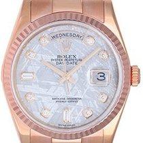 Rolex Rose Gold President Day-Date Meteorite Diamond Dial...
