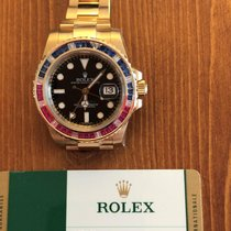 Rolex 116748 Saru  Gmt-Master II Yellow Gold Sapphires and Rubies