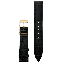 Frederique Constant E-Strap Black Yellow Gold Plated 20mm