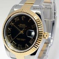 Rolex Datejust II 18k Yellow Gold/Steel Black Roman Dial 41mm...
