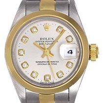 Rolex Ladies Diamond Rolex Datejust Watch Steel & Gold 69163
