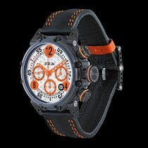 B.R.M Chronograph  BT 12 Black PVD/Orange Custom Made