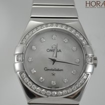 Omega Ladies Constellation 24MM diamonds mother of pearl