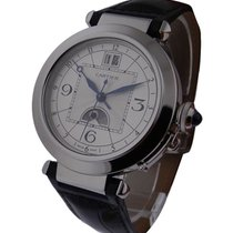 Cartier W3109255 Pasha Moon Phase and Big Date - Steel on...