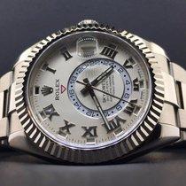 Rolex Sky-Dweller 18k White Gold 42mm White Dial Box &...