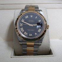Rolex Datejust II SS/18K Yellow Gold/Black Roman Dial