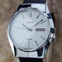 Seiko Type II Quartz 1980s Made in Japan Stainless Steel Mens...