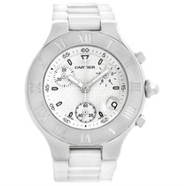 Cartier Must 21 Chronoscaph White Rubber Mens Watch W10184u2