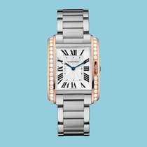 Cartier TANK ANGLAISE 34 Rotgold/Stahl -NEU- incl. VAT Exp....