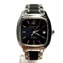 David Yurman Stainless Steel Automatic Men's Watch W/ Skeleton...