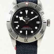 Tudor Heritage Black Bay Steel on Blue Nato Strap 79730