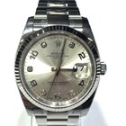 Rolex Datejust 115234 Diamond Grey Dial Bezel 18kt White Gold...