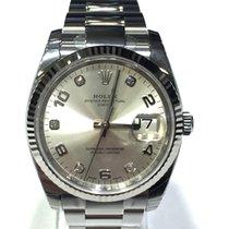 Rolex Datejust 115234 Diamond Grey Dial Bezel 18kt White Gold...