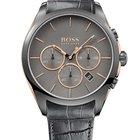 Hugo Boss 1513366 Onyx Chronograph Lederband grau 44mm 5ATM