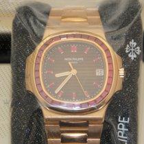 Patek Philippe 5723/112R-001  Nautilus Rose Gold Ruby Bezel...