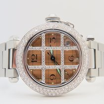 Cartier Pasha De Cartier Auto 35mm NonFactory Diamonds Setting...