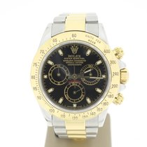 Rolex Daytona Cosmograph Steel/Gold BlackDial (B&P2003) 40mm