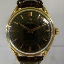 Omega vintage 1956 calatrava BLACK ref 2892-1Sc gold cape
