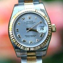 Rolex Ladies 26mm Datejust 18k Gold & Steel Raised Roman...