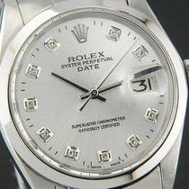 Rolex Date Herren Damen Uhr  Diamanten 34mm - Ref.1500