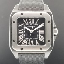 Cartier Santos 100 XL LARGE Men's Black PVD ADLC Automatic...