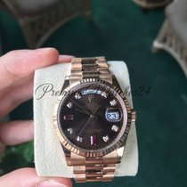 Rolex 118235F Day-Date Pink Gold, with diamonds and rubies