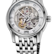 Oris Artelier Skeleton Diamonds Steel Bracelet