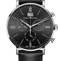 Maurice Lacroix Eliros Chronographe Black Dial, Black Strap, Date