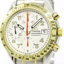 Omega Polished Omega Speedmaster Mark 40 18k Gold Steel Mens...
