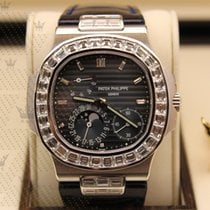 Patek Philippe 5724G-001   Nautilus  White Gold with Baugette...