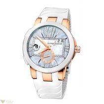 Ulysse Nardin Dual Time Executive Gray 18k Rose Gold Ladies Watch