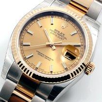 勞力士 (Rolex) 36mm TT Datejust Champagne Dial Oyster Band -...