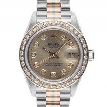 Rolex Datejust Lady Tridor 18kt Weiß-/Gelb-/Roségold Diamond...