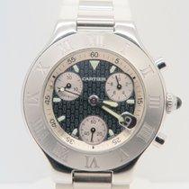 Cartier Chronoscaph 21 White Strap Ref/ 2424