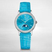 Zenith ELITE LADY MOONPHASE 33mm Bezel set 62 diamonds-Turquolse