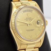 Rolex President Day-date 18038 18k Yellow Gold Roman Dial mint...