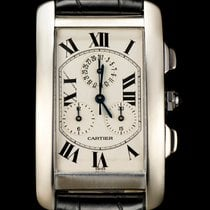 Cartier 18k White Gold Tank Americaine Chronoflex Gents W2603356