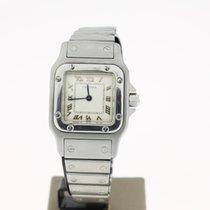 Cartier Santos steel 22mm WhiteRoman Dial (BOX) Quartz
