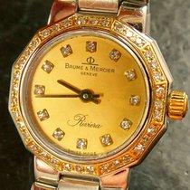 Baume & Mercier RIVIERA Brillanten Stahl Gold 750  Luxus...