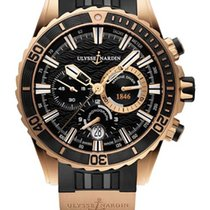 Ulysse Nardin Diver Chronograph 18K Rose Gold Men's Watch