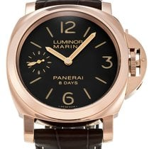 Panerai Luminor Marina 8 Days Oro Rosso 18KT Rosegold Leather...