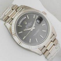 Rolex Day-Date White Gold President 40mm 228239 Rhodium Stripe...