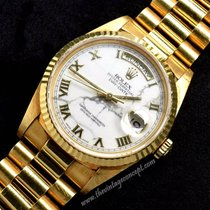 Rolex 18238 Day-Date 18K YG Marble Dial Roman Index