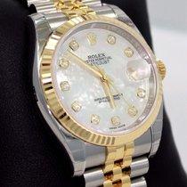 Rolex Datejust 116233 18k Yellow Gold/ss Gold Fact Diamond Mop...